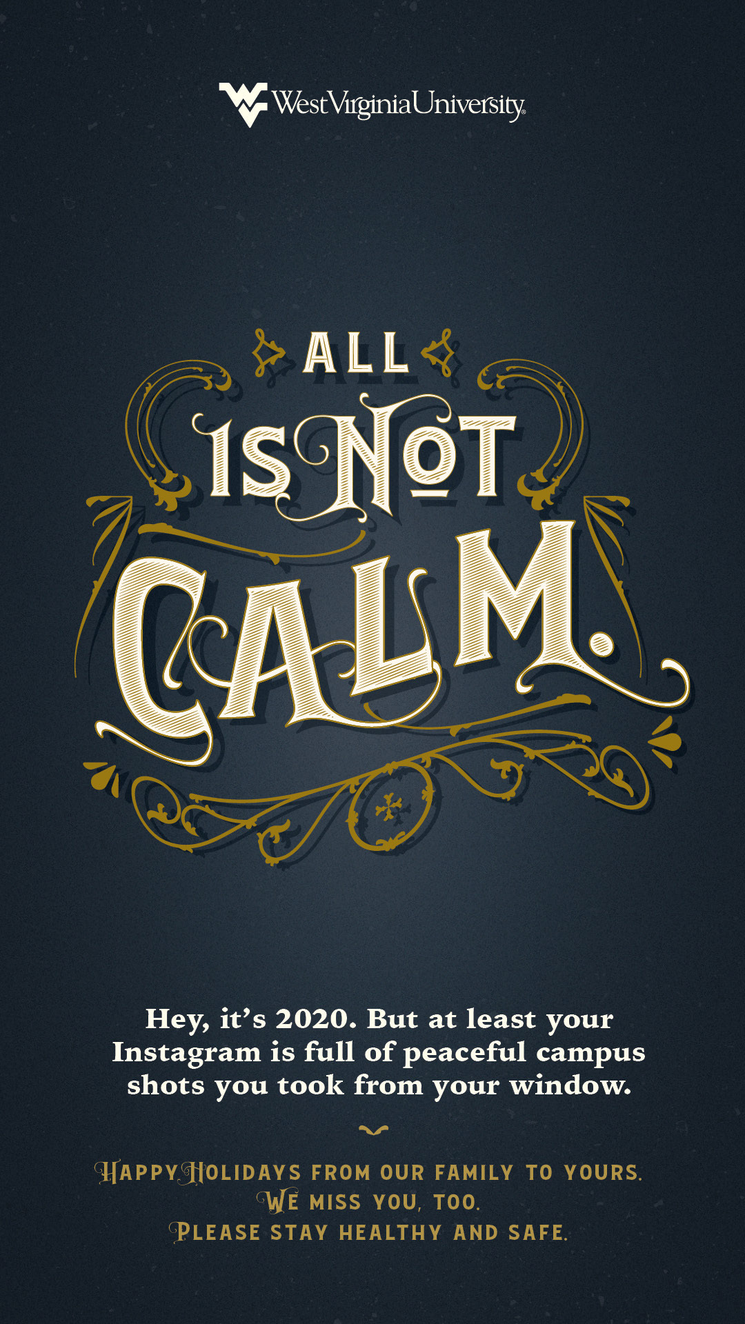 All is Not Calm poster. Poster content below image.